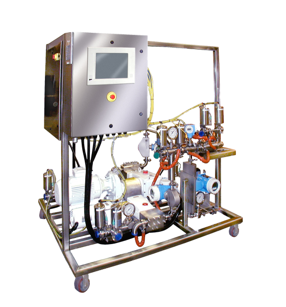 multiple-feed high pressure Sonolator homogenizer system