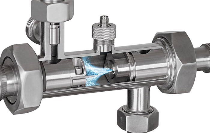 homogenizer orifice accelerating fluid