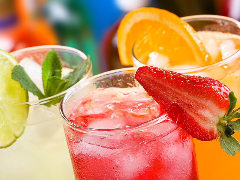 variety of cold drinks from the hydrating process