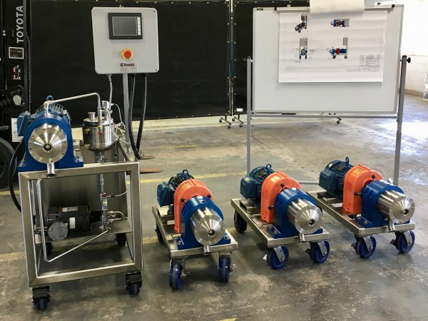 new colloid mills ready for shipment